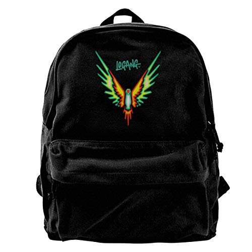 Logang Tropical Maveric Bird Logan Paul Canvas Shoulder Backpack Backpack For Men & Women Teens College Travel ypack Black