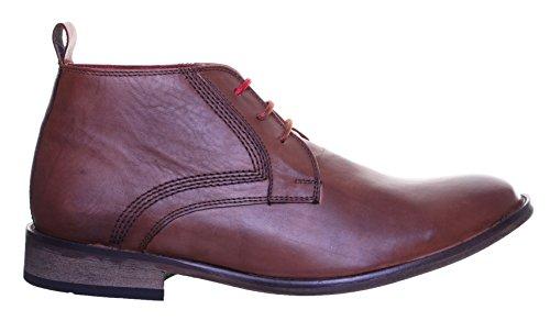 Justin Reece Scott en cuir look vintage Casual à lacets Bottes Beige - Tan SS19