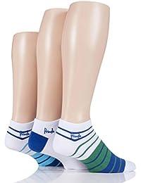 Herren 3 Paar Pringle Einfarbige und gemusterte Sneaker Socken