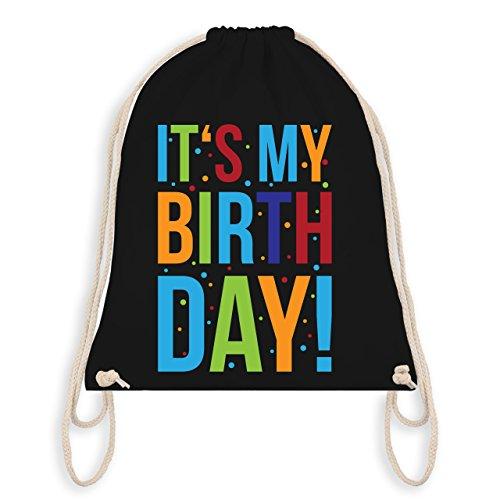 Geburtstag Kind - It's my Birthday - Turnbeutel I Gym Bag Schwarz
