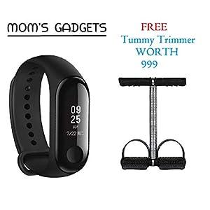 MOM'S GADGETS Intelligence Bluetooth Health Wrist Smart Band Watch Monitor/Smart Bracelet/Health Bracelet/Smart Watch for Mens/Activity Tracke/Bracelet Watch for Men/Smart Fitness Band