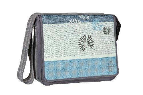LÄSSIG Baby Wickeltasche Babytasche Stylische Umhängetasche inkl. Wickelzubehör/ Casual Messenger Bag Bloom