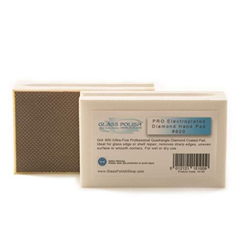 GP15100 Diamant-Handschleifpad zum Schleifen, Schleifen, Polieren und Scharfkanten/für Glas, Stein, Marmor, Beton, A+ Klasse, Körnung 600 - ultrafein