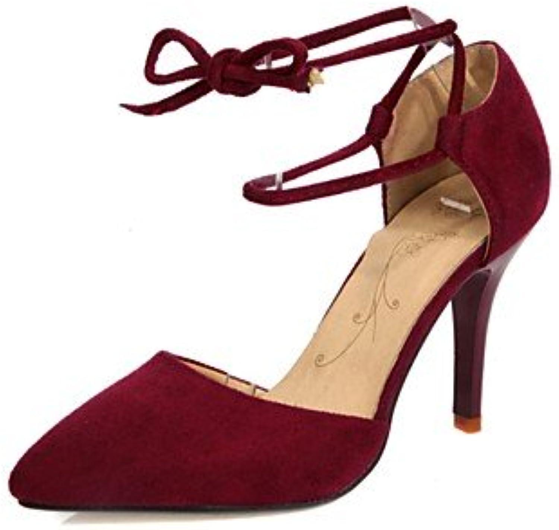 Zormey Women'S Shoes Fleece / Glitter Stiletto Heel Heels / Pointed Toe Heels Wedding / Dress Black / Red / Camel...