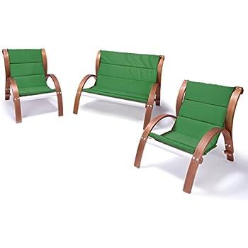 Relaxsessel garten holz  Amazon.de: Lounge Gartenmöbel-Set Malibu | Relaxsessel & 2er Sofa ...