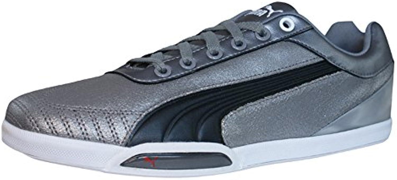 Puma 1198 HC Mens Leder Schuhe Sneaker / Schuh   Silber
