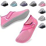 Deevike Damen Wasserschuhe Schnelltrocknend Strand Pool Schwimmen Aqua Socken Leichte Yoga Schuhe für Surf Tauchen Schulung Rosa 38/39