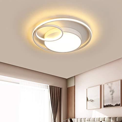 Modern Ringe Deckenleuchte RundenrDekorative LED-Deckenleuchte Luxus Bürodeckenleuchten Geometrie Design LED Lampe Deckenlampe Ø60cm*7cm 48W,3.levels.of.dimming (Kitty Lampen Für Hello Schlafzimmer)