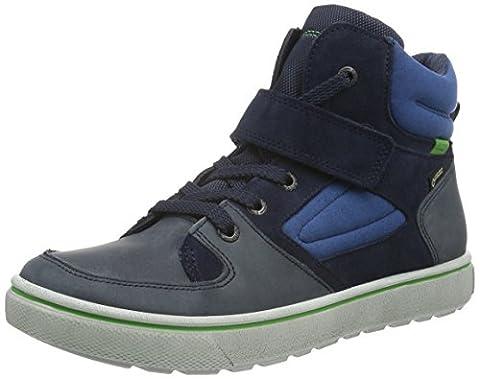 Ecco Jungen Glyder Hohe Sneakers, Blau (MARINE/MARINE/MEADOW 59670), 34 EU