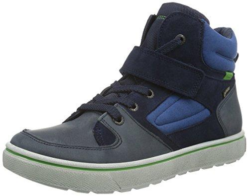 Ecco Jungen Glyder Hohe Sneakers Blau (MARINE/MARINE/MEADOW 59670)