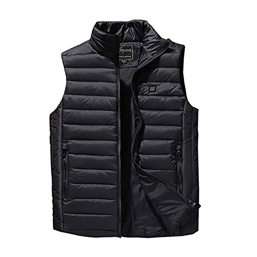 41YZuA0nObL. SS500  - Electric Heated Vest, Washable USB Charging 3 Adjustable Heating Levels Heated Clothing Winter Warm Gilet for Winter Skiing, Cycling(Black)