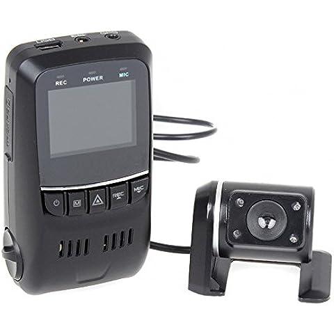 Boblov Cámara de Coche B40S Plus Pantalla 1.5 Pulgadas 2CH Dual View Condensador FHD 1080p WDR G-Sensor con un