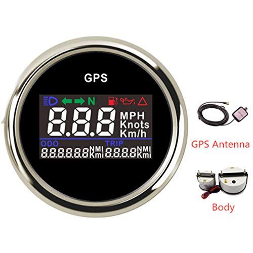 LANZHEN-Car Instruments Auto LKW Boot 52mm Digital LCD GPS Tacho für Motorrad/Marine Boote/Fahrzeug wasserdicht IP67 Marine-lcd