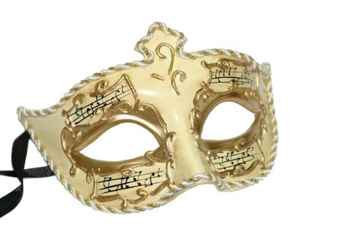 H-M Shop Beste Wahl: venezianischen Papier Pappmaché Maske W/Music Notes (Halloween-kostüm Music Note)