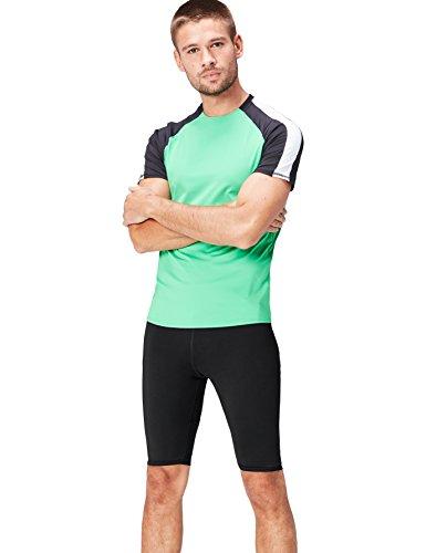 Schwarze Herren Activewear (Activewear Shorts Herren, Schwarz (Black), 50 (Herstellergröße: M))