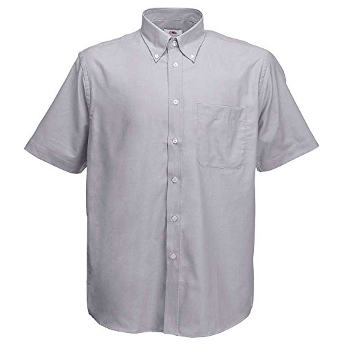 Mens Short Sleeve Oxford Shirt (Fruit of the Loom Mens Short Sleeve Oxford Shirt)