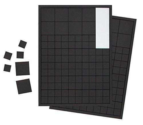 220x Extra Starke Magnetplättchen 10x10mm und 20x20mm. Selbstklebende Magnet-Plättchen