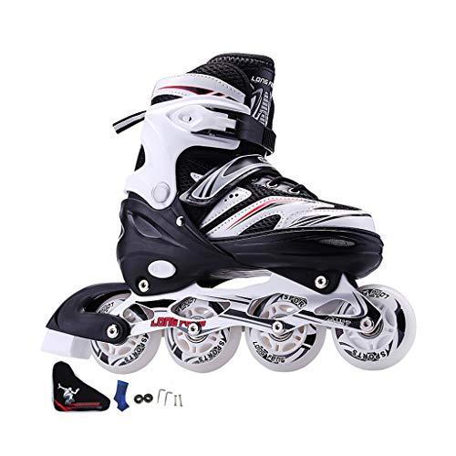 Gcxhlx Damen and Herren PU Verschleißfeste Confortables Inliner Roller Skates Damen,größenverstellbar Erwachsene Homme Femmes Ideal Für Anfänger Rollerblades,Jugend Inline-Skates (Roller Skate Tasten)