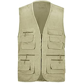 Mens gilet body warmer action waist coat country hunting for Fishing vest amazon