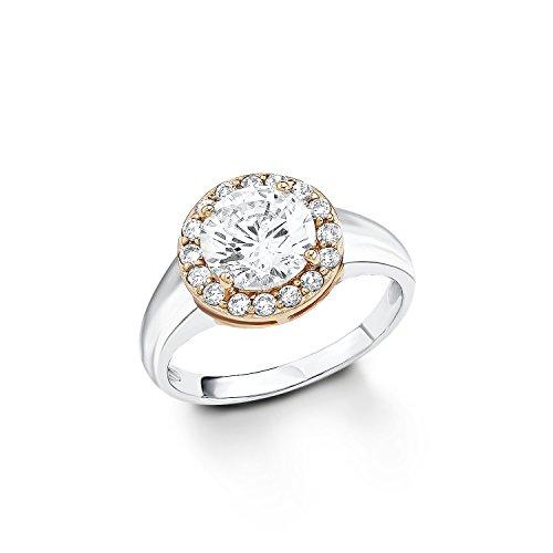 s.Oliver Jewel Damen-Ring 925 Sterling Silber Zirkonia weiß Gr.52 (16.6) 483933