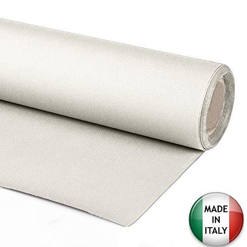 Byour3 Tessuto per Tende da Sole Esterno a Metraggio 1 Metro Stoffa Tenda Tinta Unita Tessuti Ultima Generazione Gazebo Balcone Camper Tendalino Pergolato 10 Colori (Avorio-140cm)