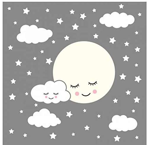 Moon Cloud Star Applique Niños Kindergarten Etiqueta