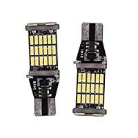 W16W LeD Backup Reverse Brake Lights Bulb with Canbus error Free for 45 SMD 4014 Chipsets Pack of 2
