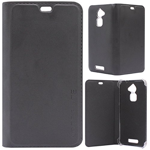 DMG Premium PU Leather Flip Cover Case for Coolpad Note 3 Lite (Black)