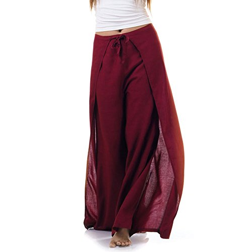 Princess of Asia Thai Hose Wickelhose Hosenrock Wickelrock Weinrot -