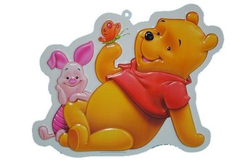 XL - 3-D Winnie the Pooh Wand Bild Schmetterling Bär Teddy Tigger Ferkel Esel