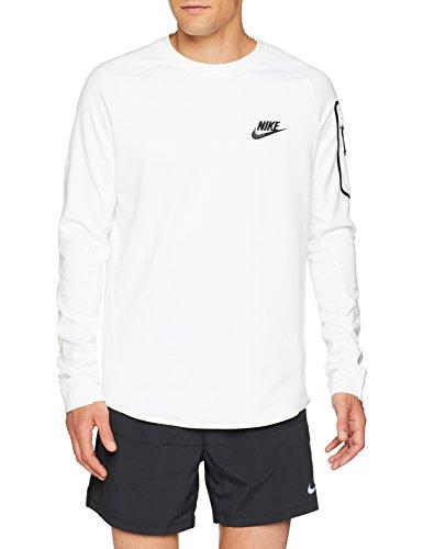 Nike Herren Sportswear Advance 15 Fleece Sweatshirt, White/Black, M