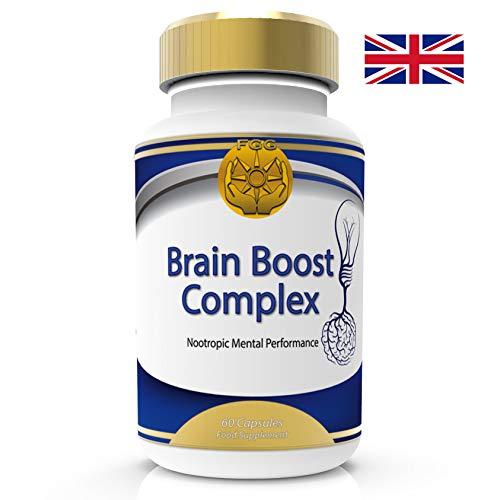 Prämie Brain Boost Nootropics Max-Stärke-Komplex von Vitaminen für Gedächtnis, Fokus, Konzentration, kognitive Funktionserweiterung und Neuro-Ernährung - 60 Kapseln 2 Monate. 100% Geld-zurück-Garantie - Wartung 60 Tabletten