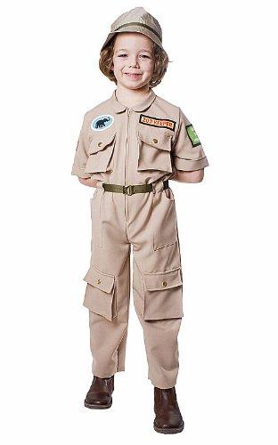 Kostüme Tierpfleger (Dress Up America 516-M - Zoowärter Kostüm, 8-10 Jahre, Taille 79 cm, Größe 123 cm,)