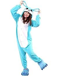 Unisex Animal Pijama Ropa de Dormir Cosplay Kigurumi Onesie Conejo Disfraz para Adulto Entre 1,