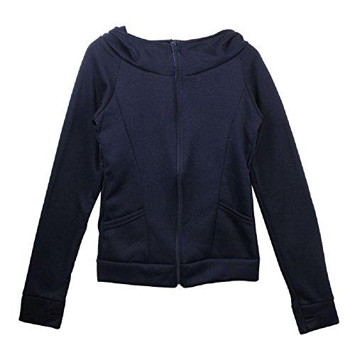 Coversolate Señora Hooded Coat Sweatshirt Chaqueta Chaqueta Encase dedo manga larga (Tamaño libre, Azul)