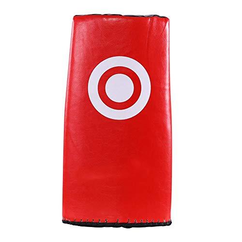 Dilwe Kick Strike Pads, Robuster Schwamm Kickbox Schlag Schlagschild mit Gebogenem Arm für Kicking Shield Training(Rot) -