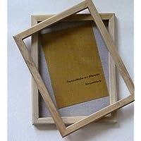 tribal paper bhutanpaperarts A4 Papiere selbst schöpfen - PAPIERSCHÖPFRAHMEN 25x34cm A4+ Size/Traditionswerkzeug auch für Jugendliche/incl. Anleitung