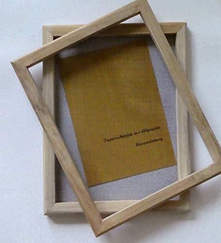 tribal paper bhutanpaperarts Papiere selbst schöpfen - PAPIERSCHÖPFRAHMEN 23x30 für A4- / Traditionswerkzeug auch für Jugendliche/incl. Anleitung