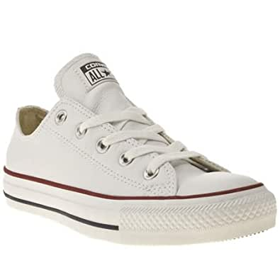 Converse All Star Ox Leather - 4 Uk - White - Leather