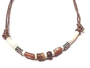Halskette Surferkette Tribal Ethno braun 40-80 cm verlängerbar n201