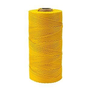 Mutuo Industries 14662–41–1000Nailon trenzado de cordel de albañil, 1lb, 18x 1000', amarillo (Pack de 4)