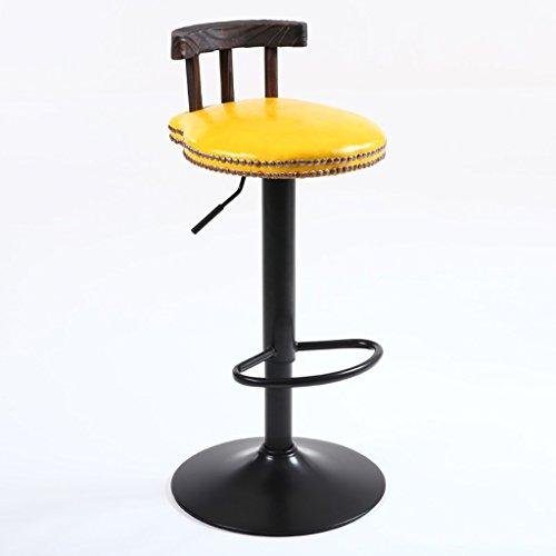 CGN Bar Chaises, Tables et Chaises Tabouret Tall Solid Wood Retro Imitation Métal Mode Lifting Rotation Bar Club H75cm-95cm la satisfaction (Couleur : B)