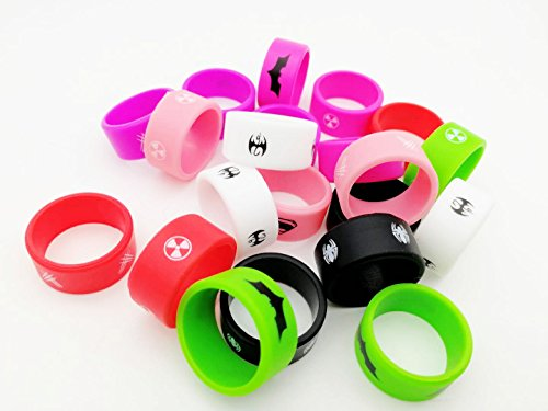 10 PCS Mixed Color Silicone Vape Rings