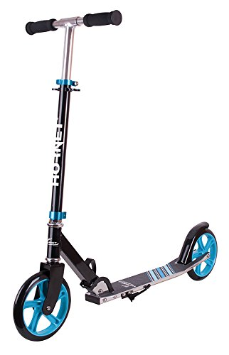 HUDORA Unisex- Erwachsene Hornet Kinderfahrräder, schwarz/hellblau, 200mm