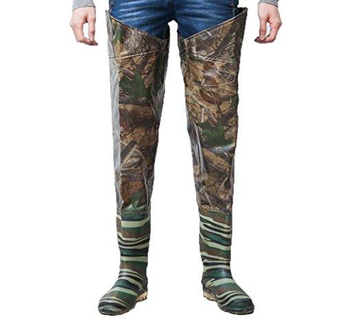 Y&FUZHUANG Pantaloni impermeabili spessi / pantaloni a mezza gamba / pantaloni a sangue / scarpe da pesca al ginocchio da pesca / piantagione di piante da campo / pantaloni sotto l'acqua , 44