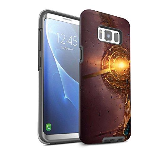 Offiziell Chris Cold Hülle / Glanz Harten Stoßfest Case für Samsung Galaxy S8/G950 / Raumfahrzeug Muster / Galaktische Welt Kollektion