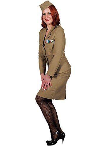 Andrew Sister Dame Offizier Navy amerikanische Uniform XS bis XXL (S) (Navy Offizier Jacke Erwachsene Kostüme)