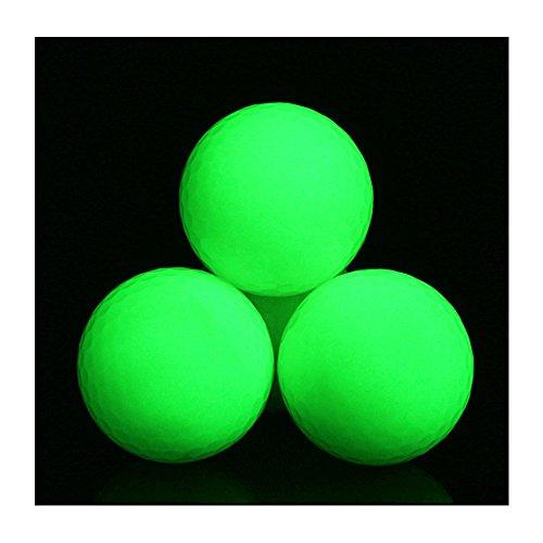 Amacoam 3 Stück Leuchtende Golfbälle, Golf Schwimmender Leuchtender Ball, Offizielle Größe Leuchten im Dunkeln Perfekt für Golfübung bälle, Golf Liebhaber