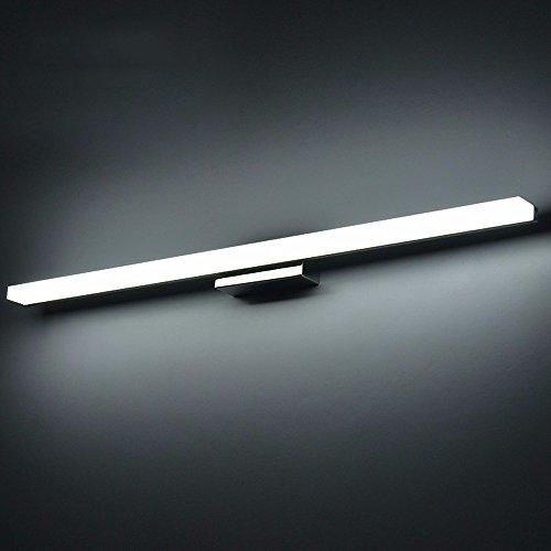 BoYX Acrilico Specchio Luce 40Cm ~ 120Cm Moderni Cosmetici Acrilico Applique Bagno Illuminazione Impermeabile 85 ~ 265V,Bianco Freddo 60Cm