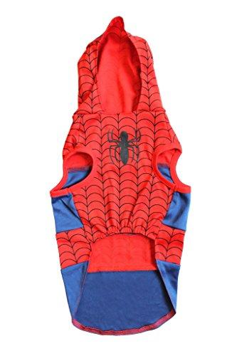 Hunde Für Kostüm Spiderman - Marvel Black Panther Kostüm für Hunde, Größe L, Best Avengers Infinity War Halloween Kostüm für Hunde, Spiderman, X-Small